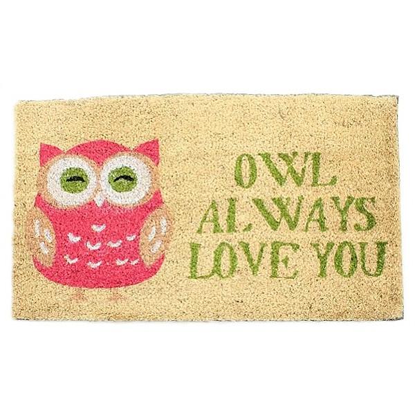 Dörrmatta Owl always love you