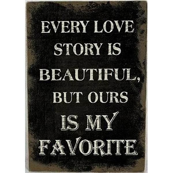 Canvastavla Every Love story is beautiful