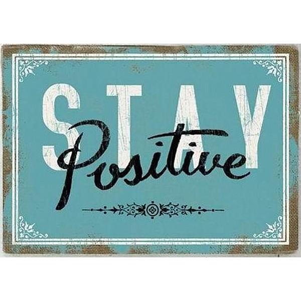 Canvastavla STAY Positive