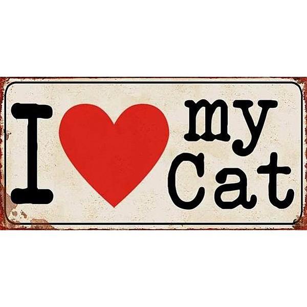 Magnet/Kylskåpsmagnet I love my cat