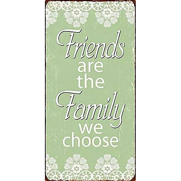 Magnet/Kylskåpsmagnet Friends are the family we choose - Grön