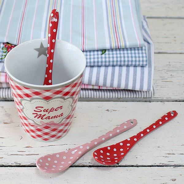 Happy Spoon Dot - Röd