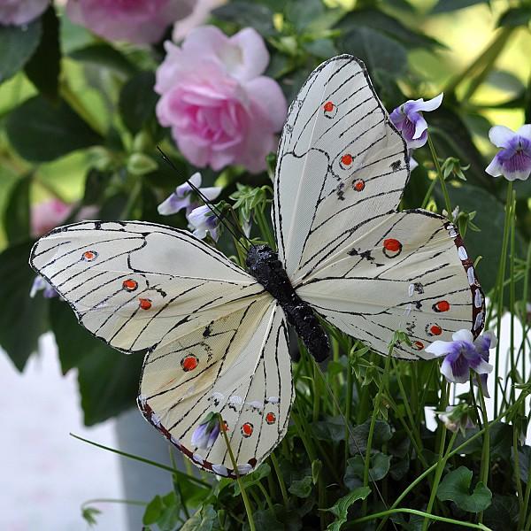 Fjäril Stick Oriental - Vit