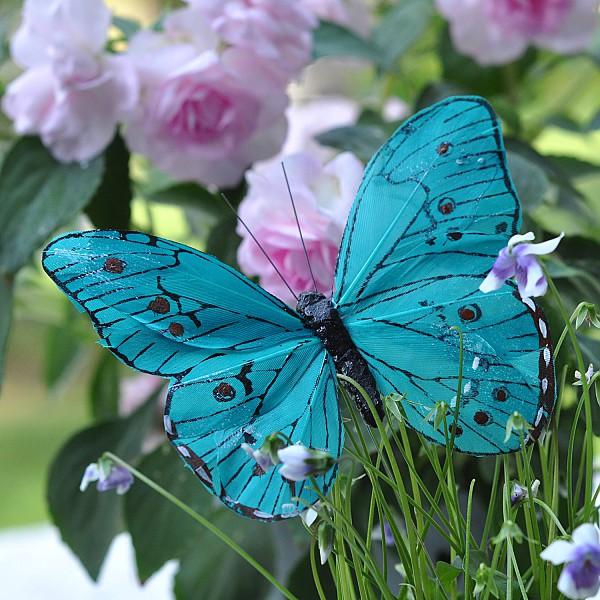 Fjäril Stick Oriental - Turkos