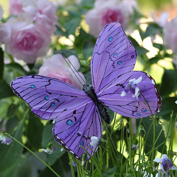 Fjäril Stick Oriental - Lila