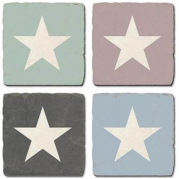 Glasunderlägg Star med stjärna
