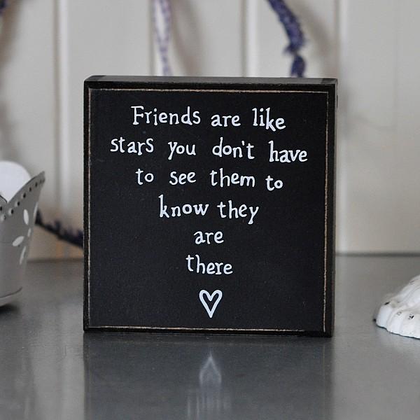 Liten Tavla/Block Friends are like stars