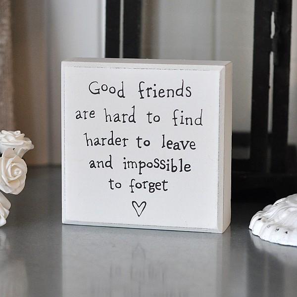 Liten Tavla/Block Good Friends
