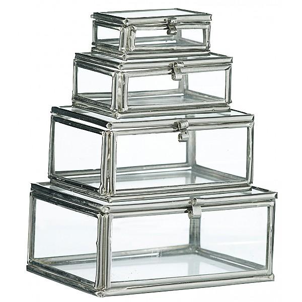 Glaslådor Rektangulära 4 st