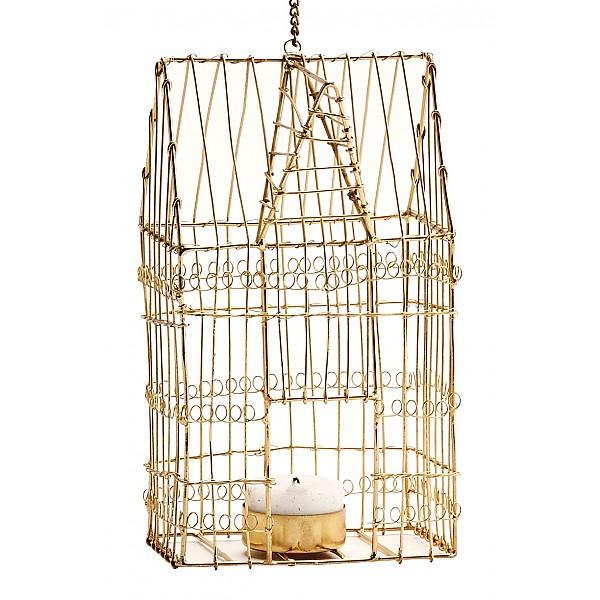 Ljushållare Fågelbur Guld Blank