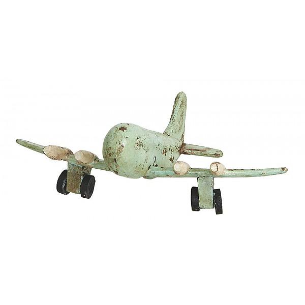 Flygplan TROJA i trä - Mintgrön