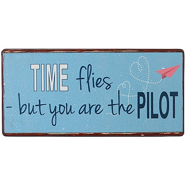 Magnet/Kylskåpsmagnet Time flies but you are the pilot