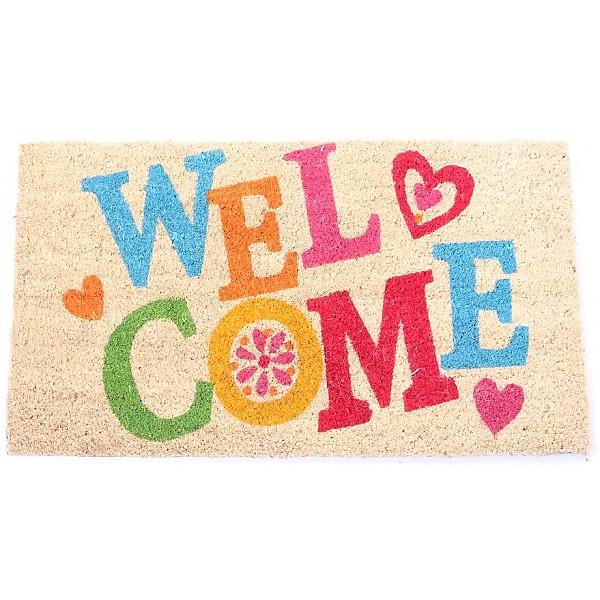 Dörrmatta Welcome med hjärtan