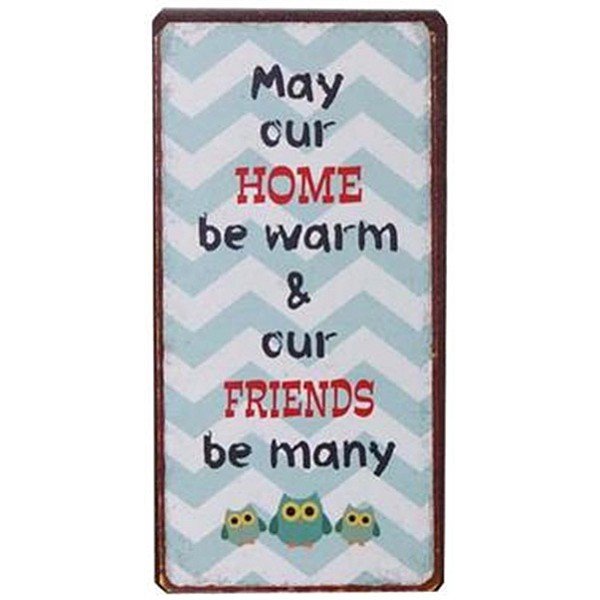 Magnet/Kylskåpsmagnet May our home be warm & our friends be many
