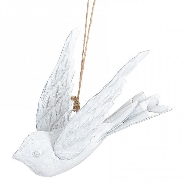 Fågel i metall - Vit
