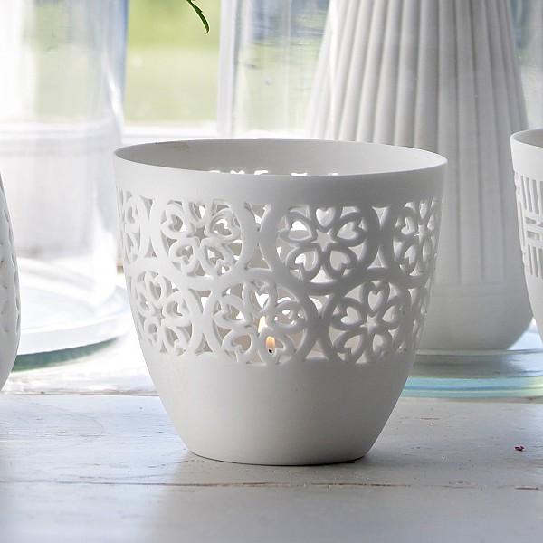 Ljuslykta FRIDA i keramik - Nr 2