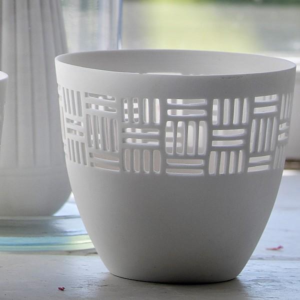 Ljuslykta FRIDA i keramik - Nr 1
