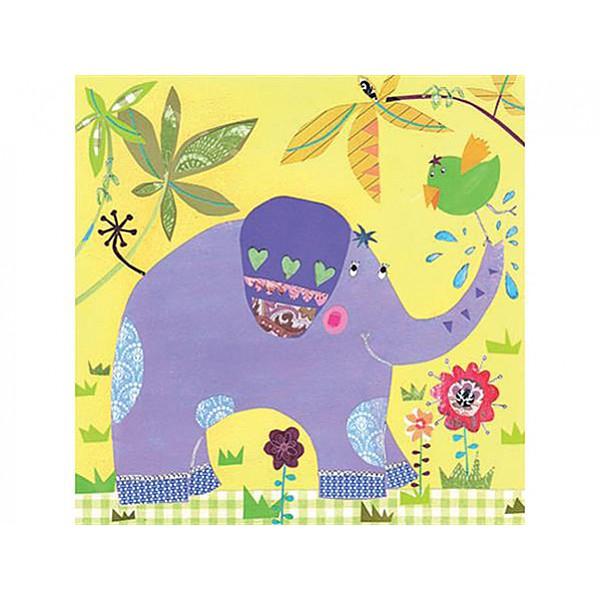 Servetter glad Elefant
