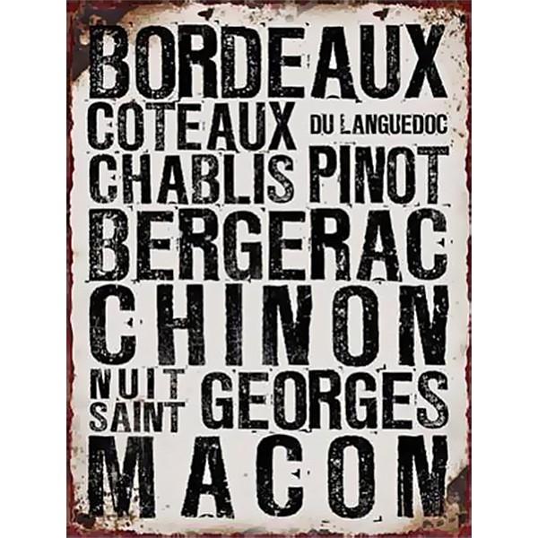 Plåtskylt Bordeaux
