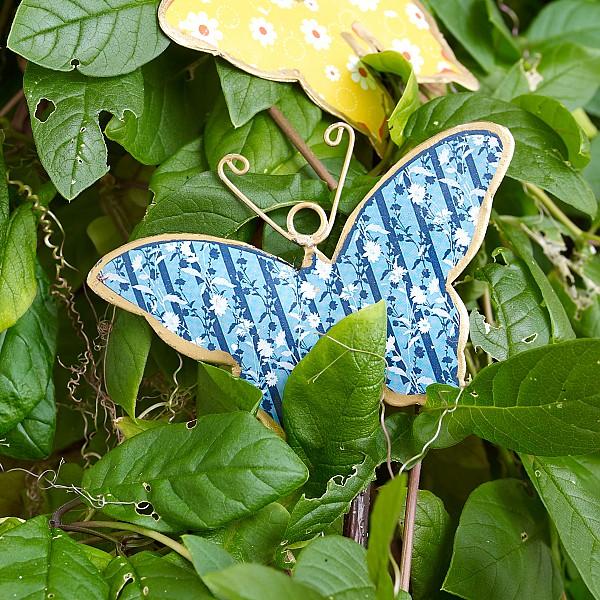 Fjäril i plåt - Blå