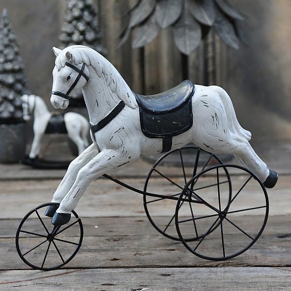 Häst på hjul - Antik creme