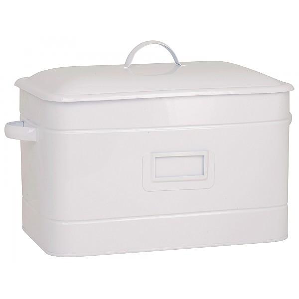 Brödbox/Brödlåda med etiketthållare - Vit