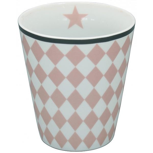 Happy Mug Harlekin - Rosa