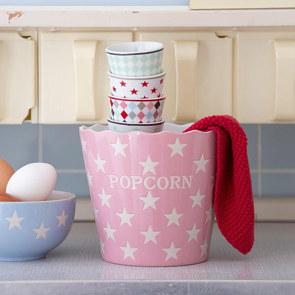 Popcornskål/Skål Popcorn Star - Rosa