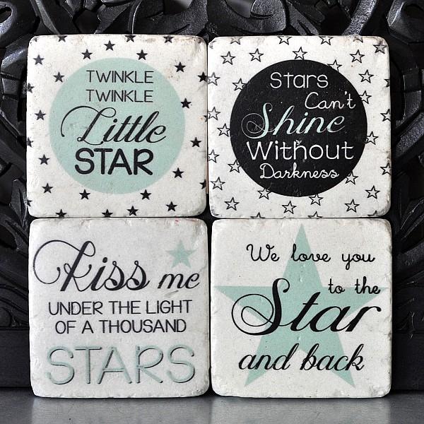 Glasunderlägg Star Little star Kiss Shine