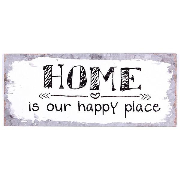 Plåtskylt Home is our happy place
