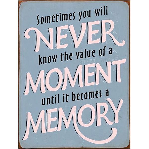 Plåtskylt The value of a moment