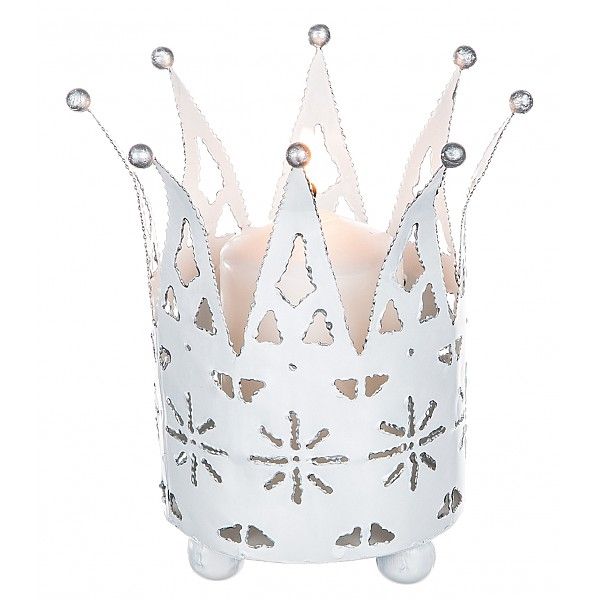 Ljuslykta Krona Vit - Stor