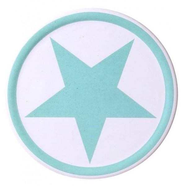 Glasunderlägg Stjärna - Blå