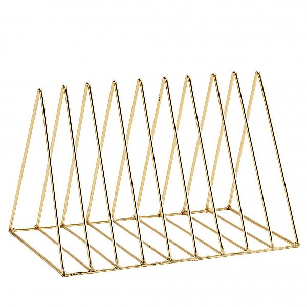 Tidningsställ Triangel - Guld Blank