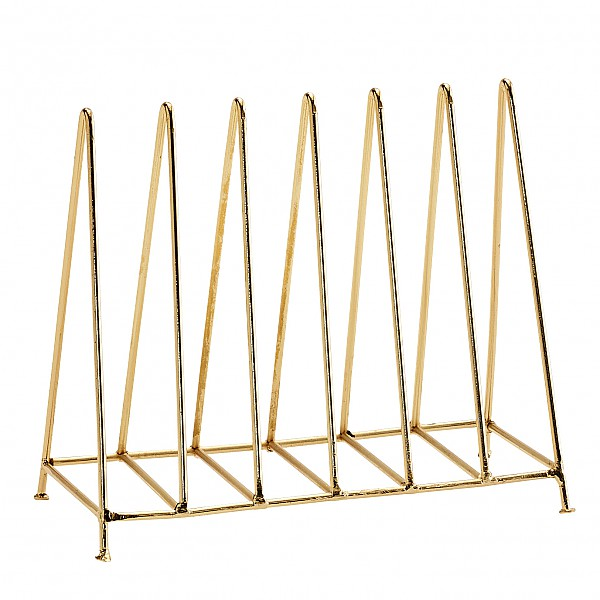 Gold Letter Rack Letter Rack Organizer Triangle Shiny Gold Madam