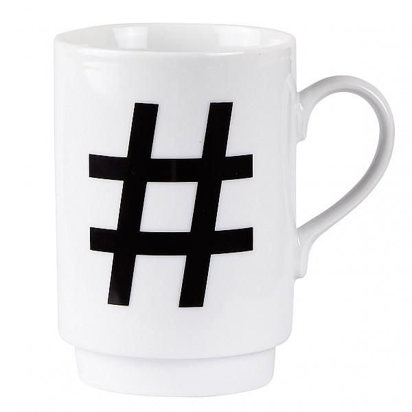 Mugg # Hashtag