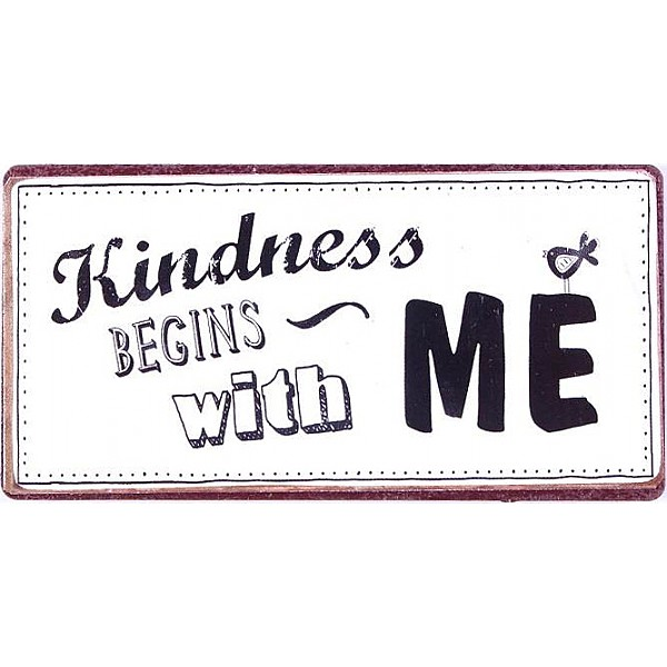 Magnet/Kylskåpsmagnet Kindness begins with me