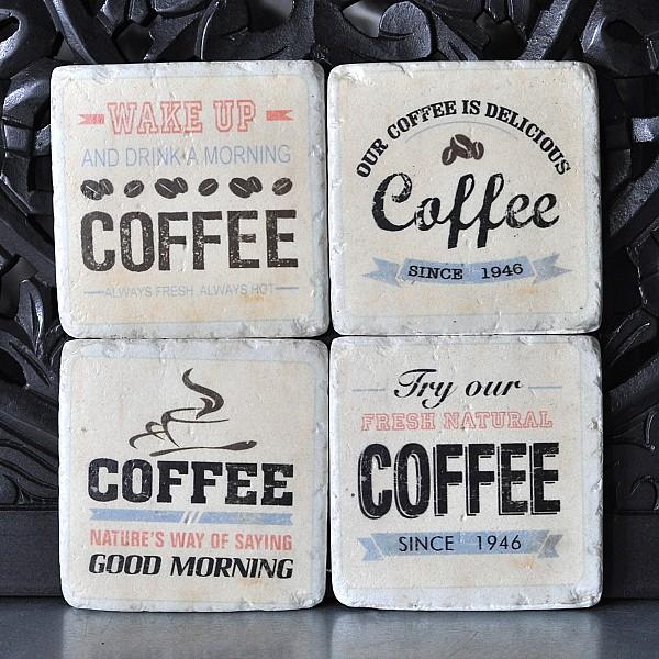 Glasunderlägg Coffee