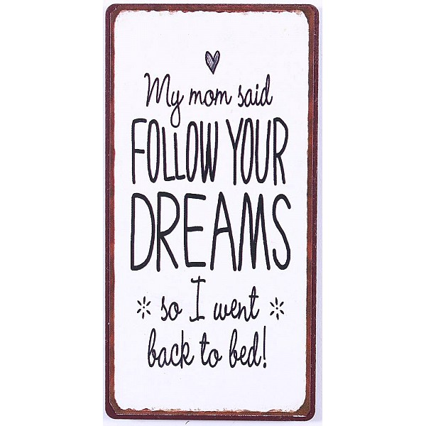 Magnet/Kylskåpsmagnet My mom said follow your dreams