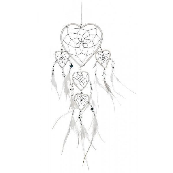 Drömfångare Hjärta med speglar - Vit