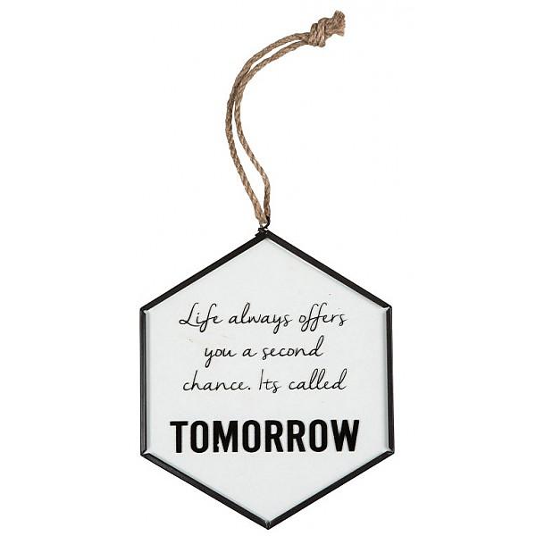 Skylt Tomorrow
