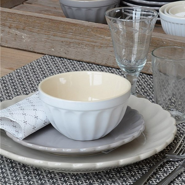 Musliskål Mynte - Pure White - Vit