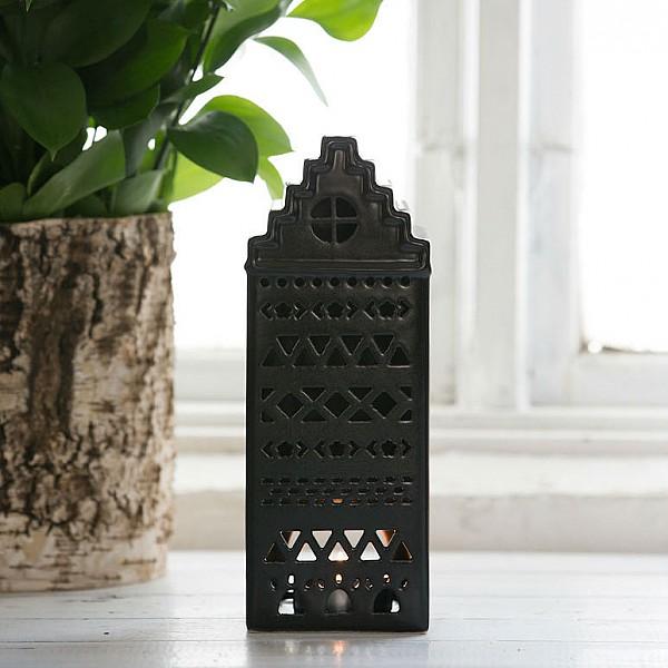 Majas Keramikhus Aztek Svart - Stor