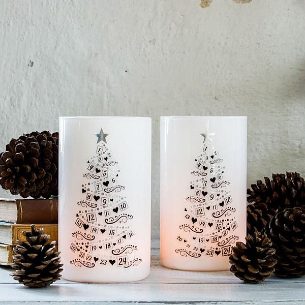 Ljuslykta Calendar Trees - Silver