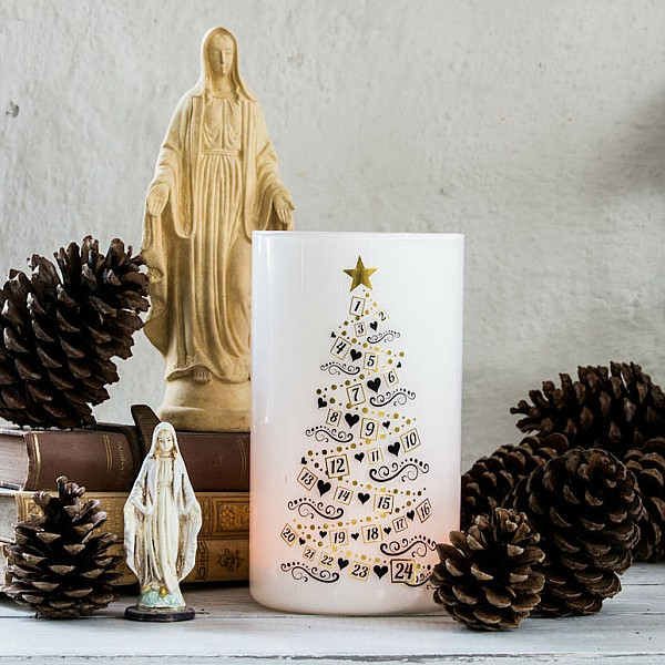 Ljuslykta Calendar Trees - Bladguld