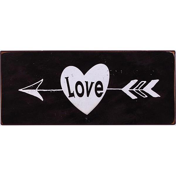 Plåtskylt Love
