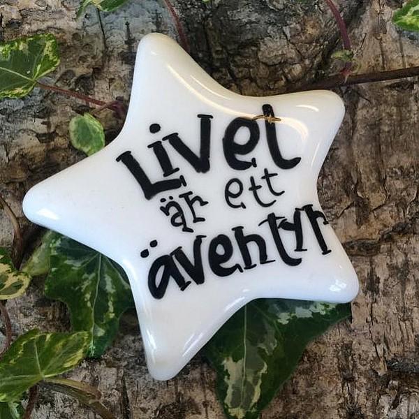 Porslinsstjärna Livet är ett äventyr - Liten
