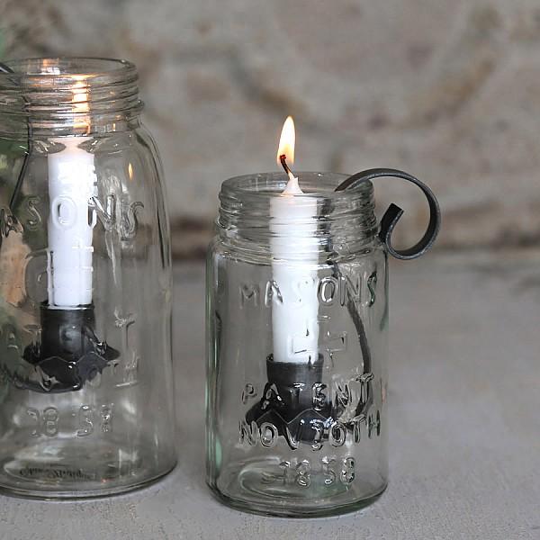 Ljushållare Fransk glasburk - Liten