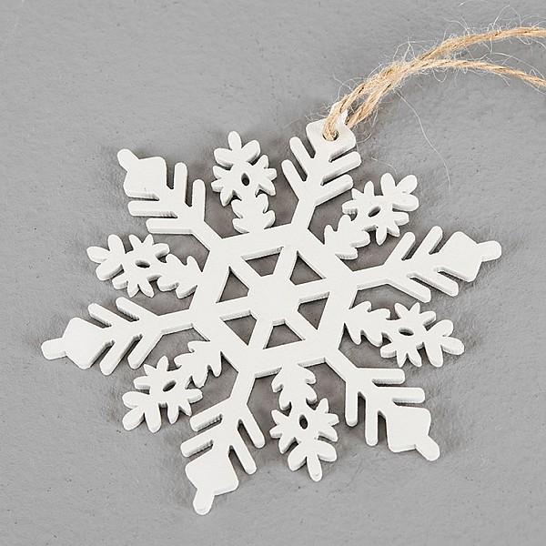 Snöflinga Vit - 10 cm