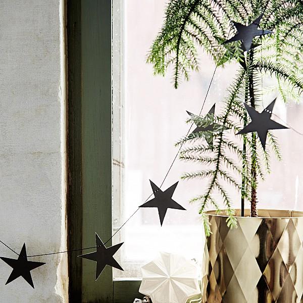 Girlang Star Stjärnor - Svart